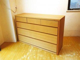 起立木工 Kiritsu リサ Lisa タモ材 チェスト 3段フルレールスライド 小分け3杯 アッシュ材 クローゼットチェスト ★