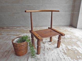 アフリカ バウレ族 BAULE 木製チェア ハンドメイド プリミティブ 民族 ♪