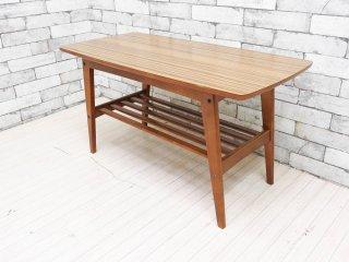 カリモク60 karimoku リビングテーブル ローテーブル Sサイズ ウォールナットカラー デコラトップ ミッドセンチュリー ●