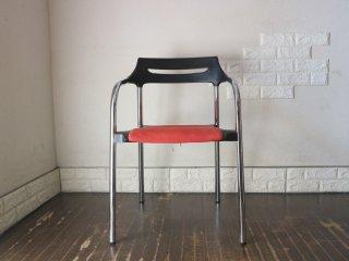 ウィルクハーン Wilkhahn 310/3 Senzo Chair スタッキング アームチェア  ファブリック レッド 廃盤 B ◎