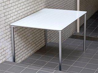 フリッツハンセン Fritz Hansen プラーノ PLANO P932 ダイニングテーブル ホワイト ガラストップ ペリカンデザイン ■
