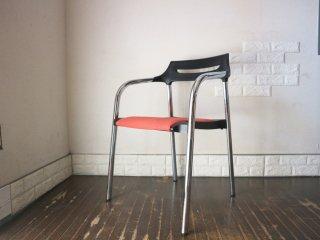 ウィルクハーン Wilkhahn 310/3 Senzo Chair スタッキング アームチェア  ファブリック レッド 廃盤 A ◎