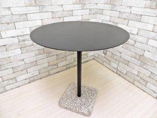 ヘイ HAY テラゾー TERRAZZO TABLE ROUND ラウンドテーブル カフェテーブル Φ70cm チャコール × ホワイト 人工大理石 デンマーク 北欧家具 ●