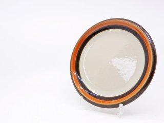 ロールストランド Rorstrand アニカ Annika プレート Φ16cm オレンジ × ブラウン マリアンヌ・ウェストマン 1972-1983年 スウェーデン 北欧食器 A ●