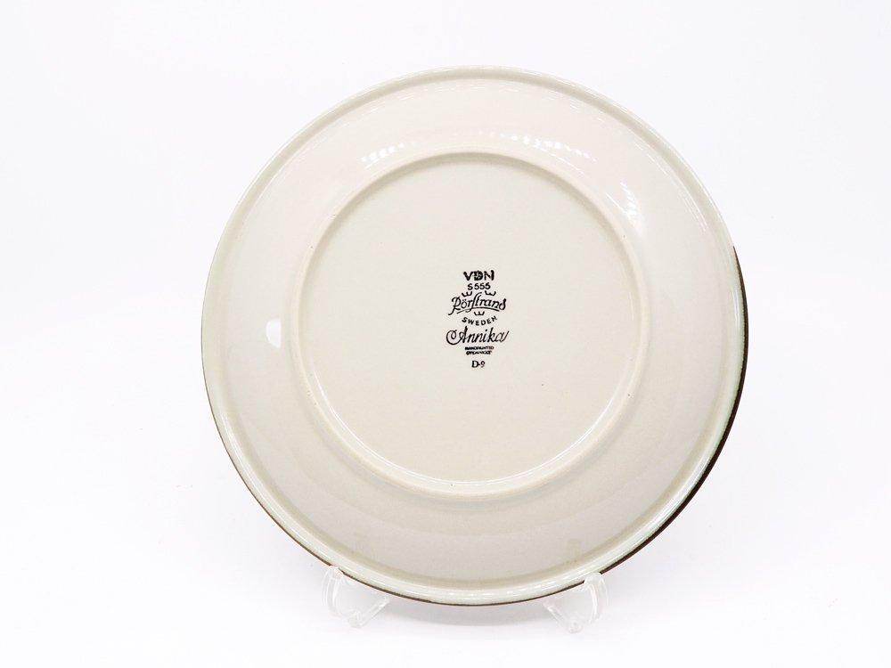 ロールストランド Rorstrand アニカ Annika プレート Φ16cm オレンジ × ブラウン マリアンヌ・ウェストマン 1972-1983年 スウェーデン 北欧食器 C ●
