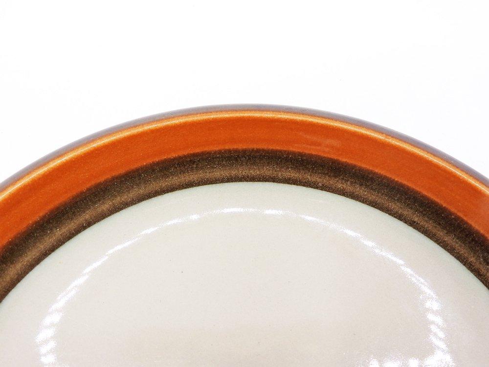 ロールストランド Rorstrand アニカ Annika プレート Φ16cm オレンジ × ブラウン マリアンヌ・ウェストマン 1972-1983年 スウェーデン 北欧食器 D ●