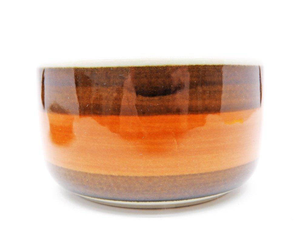 ロールストランド Rorstrand アニカ Annika シュガーポット オレンジ × ブラウン マリアンヌ・ウェストマン 1972-1983年 スウェーデン 北欧食器 ●