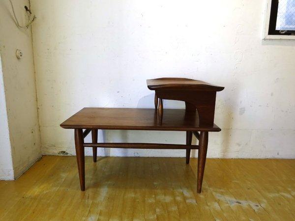アメリカ ビンテージ US Vintage ステップ テーブル Step end table ウォールナットオイル仕上 ミッドセンチュリー USA ★