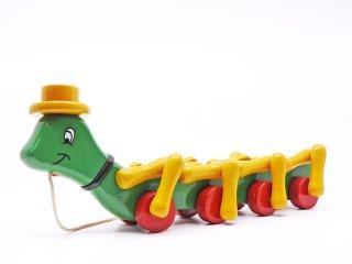 クーバリアス kouvalias コオロギ Small Cricket 木のおもちゃ ベビー玩具 1980s ビンテージ vintage ギリシャ 希少 ●