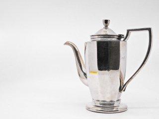 早川シルバー Hayakawa Silver 角型コーヒーポット 7人用 0.96L ニッケルシルバー 12角形 洋白銀器 A ●