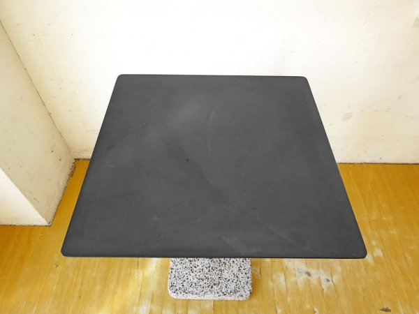 ヘイ HAY テラゾー TERRAZZO TABLE スクエアテーブル カフェテーブル W60cm チャコール × グレー 人工大理石 デンマーク 北欧家具 ★