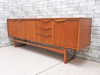 サトクリフ オブ トッドモーデン Sutcliffe of Todmorden チーク材 サイドボード キャビネット W207cm UK Vintage 北欧スタイル ●