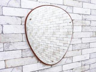 Jansen Spejle ウォールミラー チーク材 デンマーク 北欧ビンテージ ミッドセンチュリー ●