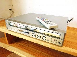 シャープ SHARP HDD搭載 VHS DVDレコーダー 一体型ビデオデッキ DV-TR12 純正リモコン付 250GB 2005年製 動作確認済 ★
