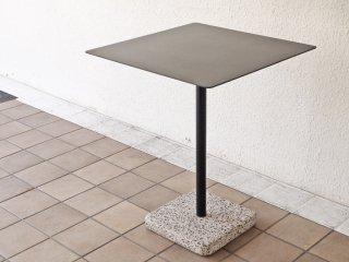 ヘイ HAY テラゾー TERRAZZO TABLE スクエアテーブル カフェテーブル 幅60cm チャコール × グレー 人工大理石 デンマーク 北欧 ミニマル モダン 屋外使用可 ◇