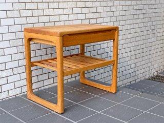 ブリンク・モブラー Brink Møbler オーク無垢材 サイドテーブル デンマークビンテージ 北欧家具 ■