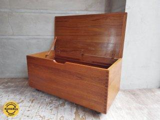 USビンテージ 蓋付き ウッドボックス グリーン 木箱 収納 ブランケットボックス ディスプレイラック 店舗什器 ★