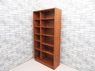 ジャパンビンテージ Japan Vintage チーク材 ブックシェルフ 本棚 6段 棚板可動式 H180cm レトロスタイル ●