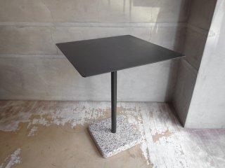 ヘイ HAY テラゾー TERRAZZO TABLE スクエアテーブル カフェテーブル 幅60cm チャコール × グレー 人工大理石 デンマーク 北欧 ミニマル モダン 屋外使用可 ♪