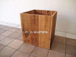 ロンハーマン Ron Herman リサイクルウッド プランターカバー ボックス 古材 木製 ヴィンテージスタイル ◇