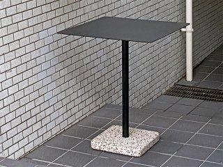ヘイ HAY テラゾー TERRAZZO TABLE スクエアテーブル カフェテーブル W60cm チャコール × グレー 人工大理石 デンマーク 北欧 ミニマル モダン 屋外使用可 ■