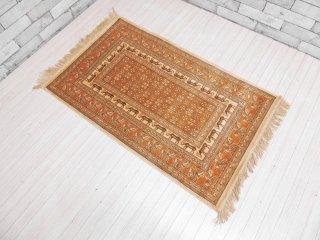 ベルギー製 Art Silk ノマド模様 ビンテージ デッドストック ラグ 115×67cm 絨毯 マット  ●