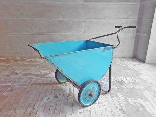 インダストリアル ビンテージ 手押し車 二輪車 カート 2 WHEEL VEHICLES ターコイズブルー ♪