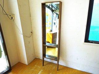 ジャーナルスタンダードファニチャー journal standard Furniture オールドエルムミラー OLD ELM MIRROR 姿見 全身鏡 スタンドミラー ★