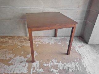 無印良品 MUJI バーチ材 ダイニングテーブル ブラウン スクエア 正方形 w80cm ♪