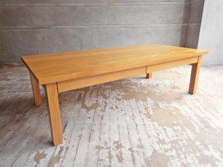 無印良品 MUJI センターテーブル ローテーブル 引き出し付 オーク無垢材 ナチュラル 廃番 W120 ♪