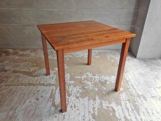 無印良品 MUJI  ダイニングテーブル ウォールナット 無垢材 スクエア 正方形 w80cm 廃盤 ♪