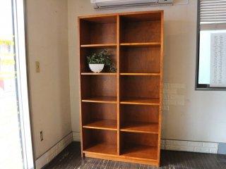 パシフィックファニチャーサービス Pacific Furniture Service P.F.S 2列5段 木製 オープンシェルフ 本棚 飾り棚 オーダーメイド ◎