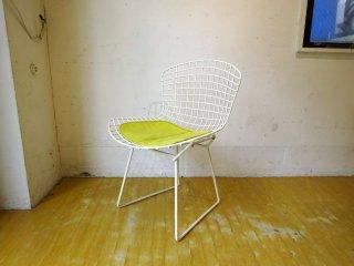 ノル Knoll 420 サイドチェア 420 Side chair ワイヤーチェア シートパッド付き ハリー・ベルトイア ホワイト ノール ★