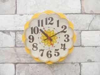ゼネラルエレクトリック General Electric フラワーモチーフ 掛け時計 60〜70's 60Hz専用 アメリカ USビンテージ ●