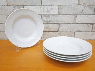 リチャードジノリ Richard Ginori ベッキオホワイト Vecchio White スーププレート 5枚セット 23cm イタリア ●