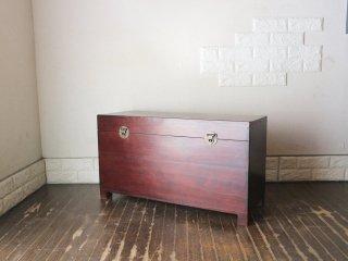 オールドメゾン ヴィンテージ old maison vintage チーク古材 ブランケットボックス 収納箱 ベンチスツール ★