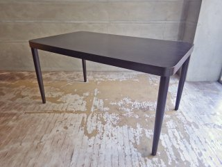無印良品 MUJI × トーネット THONET ダイニングテーブル ブナ材 ダークブラウン W140cm ♪