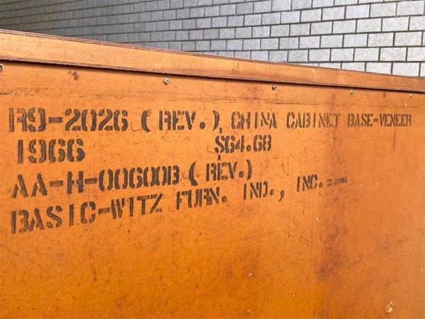 ベーシックウィッツファニチャー BASIC WITZ FURNITURE USビンテージ  サイドボード サイドキャビネット 米軍家具 ミッドセンチュリー ■