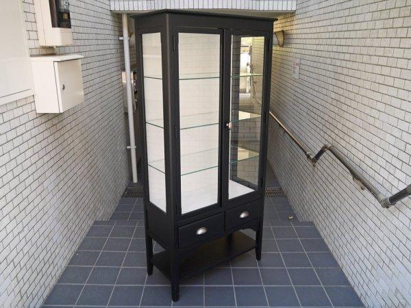ウニコ unico アレット ALETTE ガラスキャビネット ドクターキャビネット ブラック 定価¥102,600- 廃番 ■