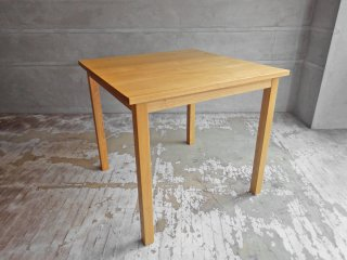 無印良品 MUJI ダイニングテーブル 2人掛け タモ材 スクエア 正方形 w80cm 廃盤 ♪