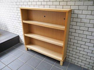 無印良品 MUJI 組み合わせて使える木製収納 タモ材 シェルフ 本棚 飾り棚 ナチュラル 3段 ■