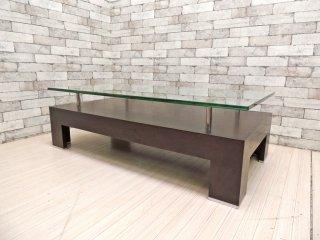 クラスティーナ Crastina ソリダス SOLIDUS ガラステーブル センターテーブル モダンデザイン ●