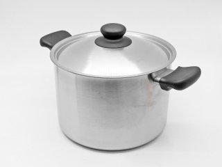 柳宗理 SORI YANAGI ステンレス 両手鍋 深型 22cm 6.0L フタ&箱付 未使用品 調理器具 ●