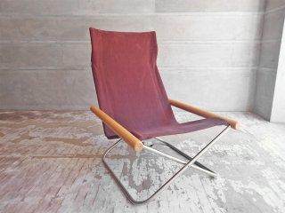 ニーチェア エックス Ny chair X フォールディングチェア 折畳 チェア ブラウン 新居 猛 MoMA ♪