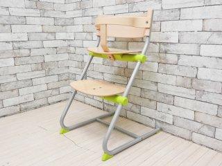 ブリオ BRIO ニューフレックスチェア New Flex Chair ベビーチェア ガード付き オリーブグリーン ステップアップチェア スウェーデン ●
