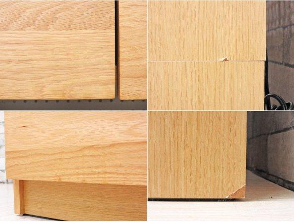 ウニコ unico ヒュッテ HUTTE キッチンボード レンジボード オーク無垢材 メラミン化粧板 W80 ナチュラルデザイン 廃番 定価:113,400- ●