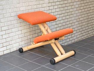 ストッケ STOKKE マルチバランス MALTI balans バランスチェア 学習椅子 オレンジ 北欧 ノルウェー ■
