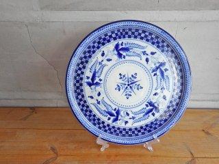 グジェリ陶器 GZHEL ロシア製 大皿 プレート 民藝 ♪