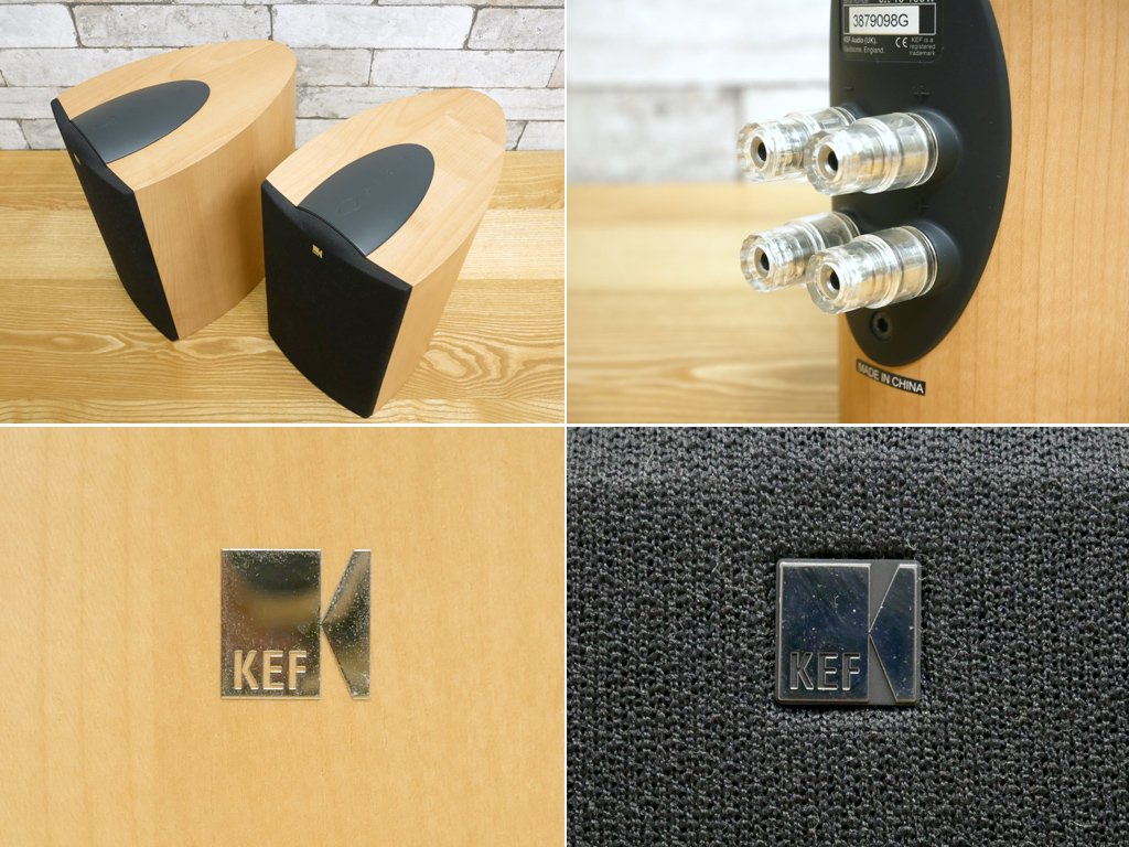ケーイーエフ KEF ブックシェルフスピーカー iQ1 SP3499 Qシリーズ 2way メイプル 連番ペア ●