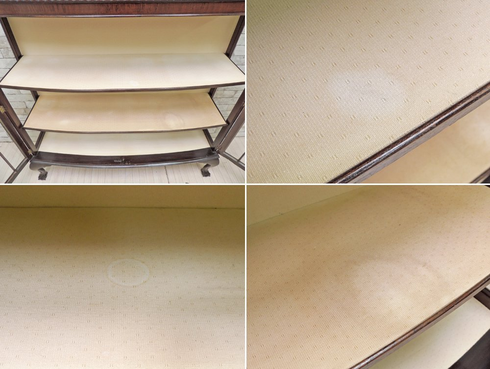 UKアンティーク エドワーディアン様式 ブックケース ガラスケース キュリオケース 鍵付き GLOBE購入 ●